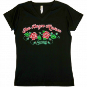 Shenandoah Ladies Black V Neck Tee